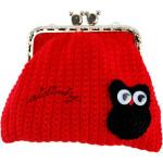 Bolsa em crochet, vermelha com mocho