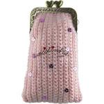 Bolsa em crochet, rosa com lantejoulas