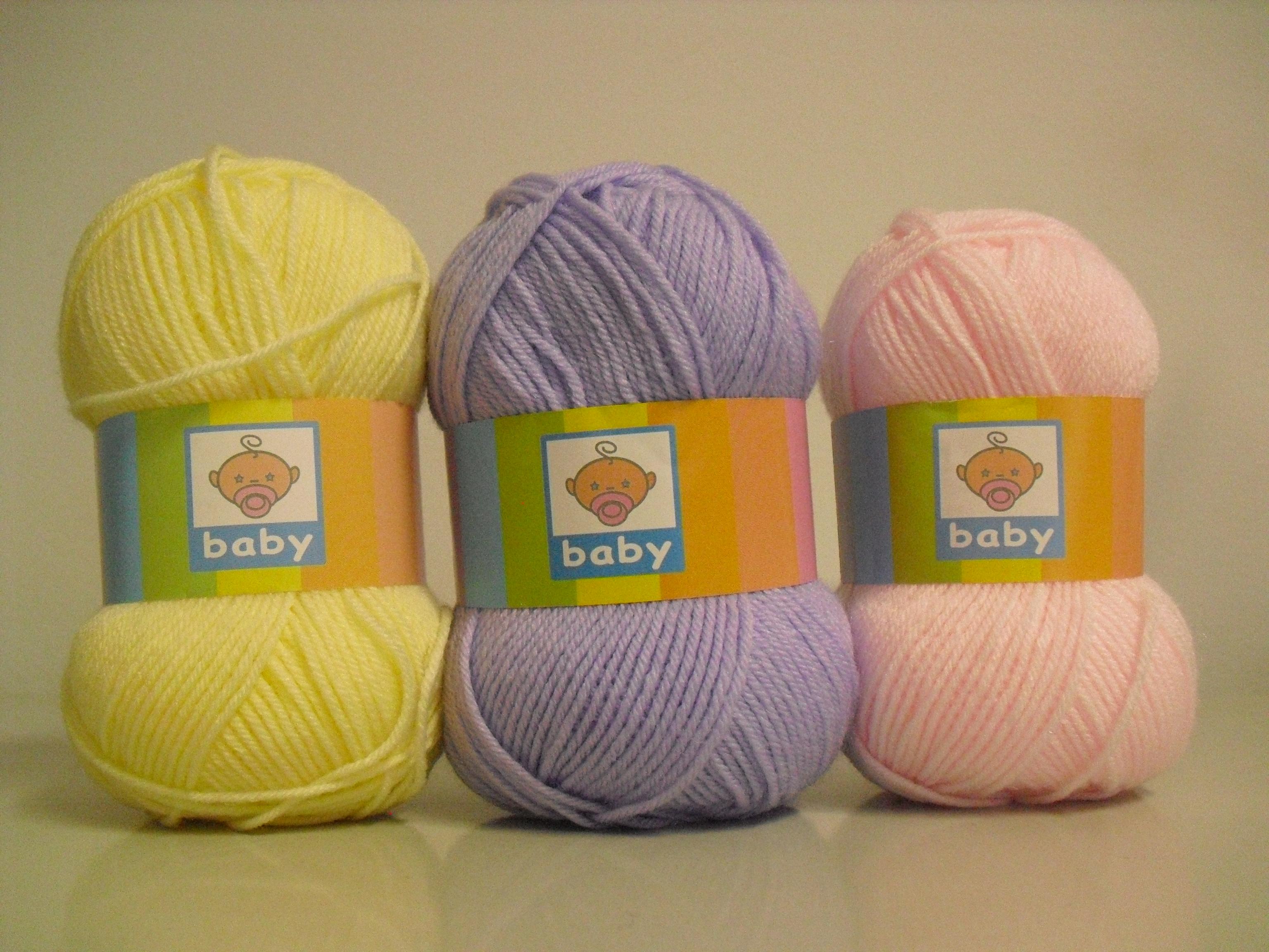 Lã utilizada na confeção dos cachecóis infantis