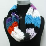 "Gola, ""Multicolorida"" em crochet"