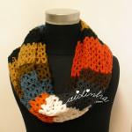 "Gola ""Multicolorida"" em crochet"