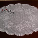 Naperon/Caminho mesa branco em renda de crochet