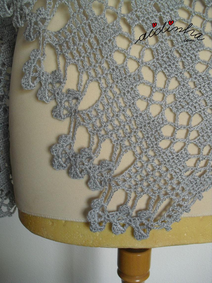 Outra foto da barra de flores da estola de crochet