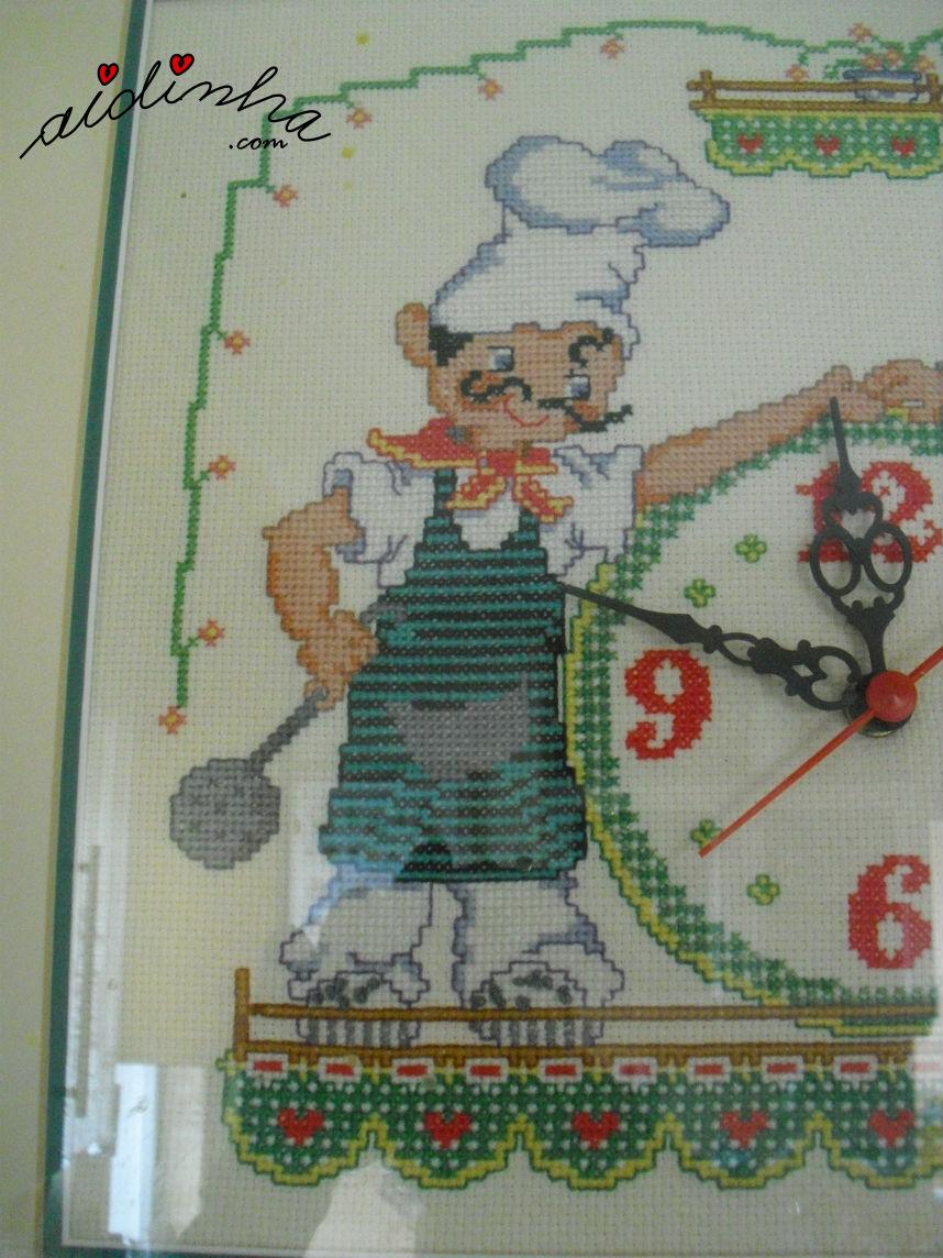 Cozinheiro do relógio a ponto cruz