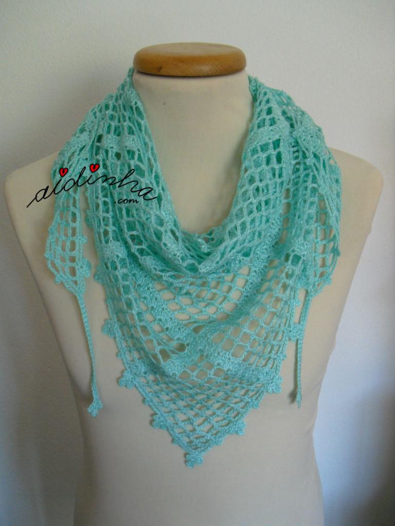 Baktu, de crochet, verde água