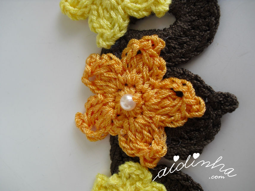 Pormenor da flor laraja, em forma de estrela