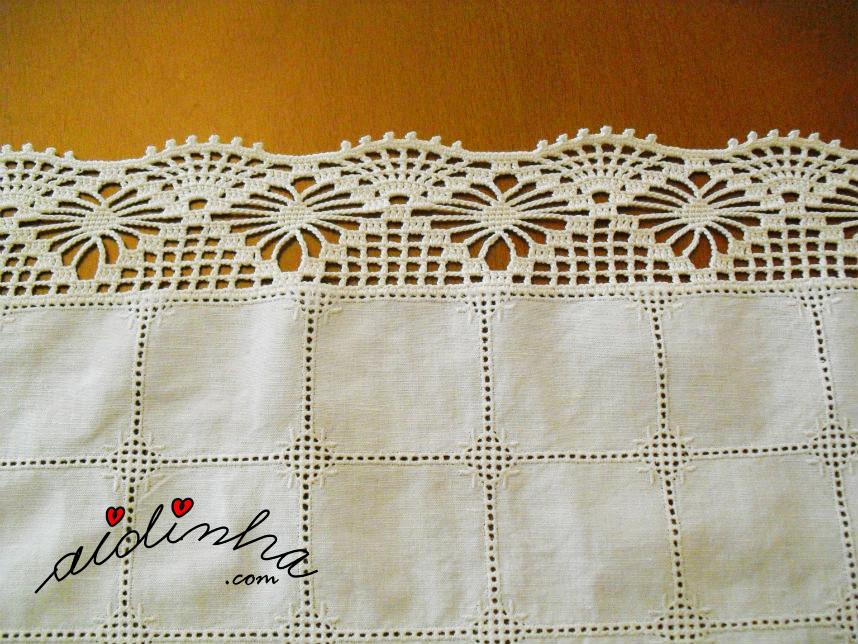 Foto da renda do naperon com crochet