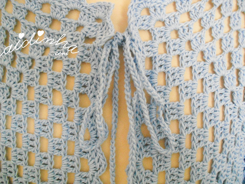 Foto do laço a partir dos cordões de amarração