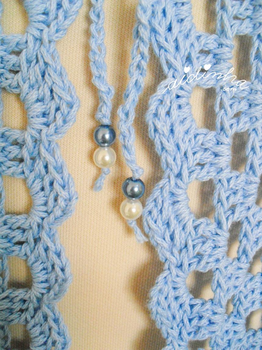Pormenor das pérolas dos cordões de amarração