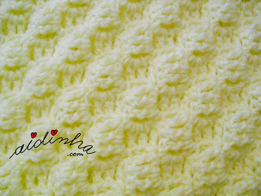 Imagem do ponto de crochet, utilizado na manta para bébé