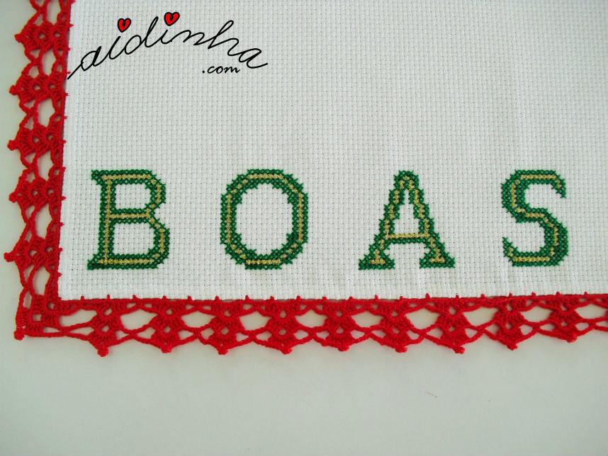 Foto das letras deste individual de Natal