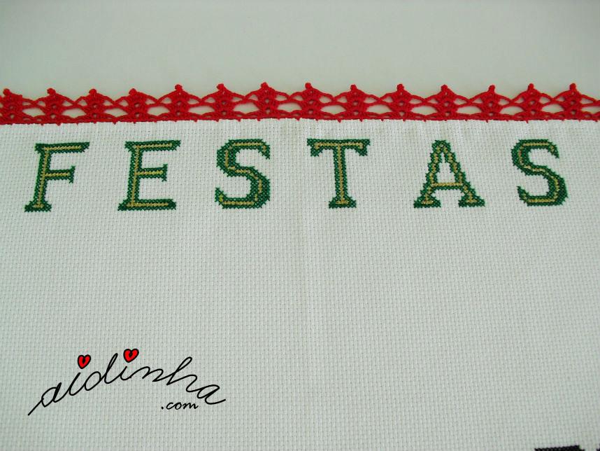 Outra foto das letras do individual de Natal