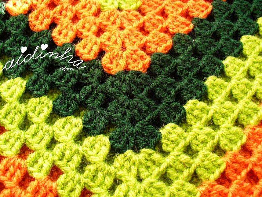 Imagem do ponto de crochet do poncho infantil