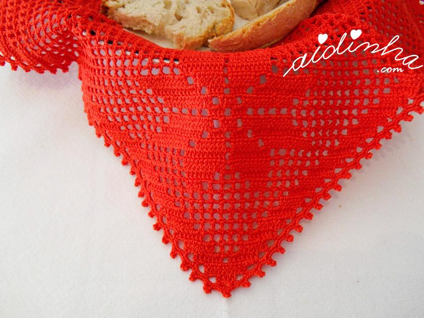 Foto de um dos bicos, com o pano colocado no cesto
