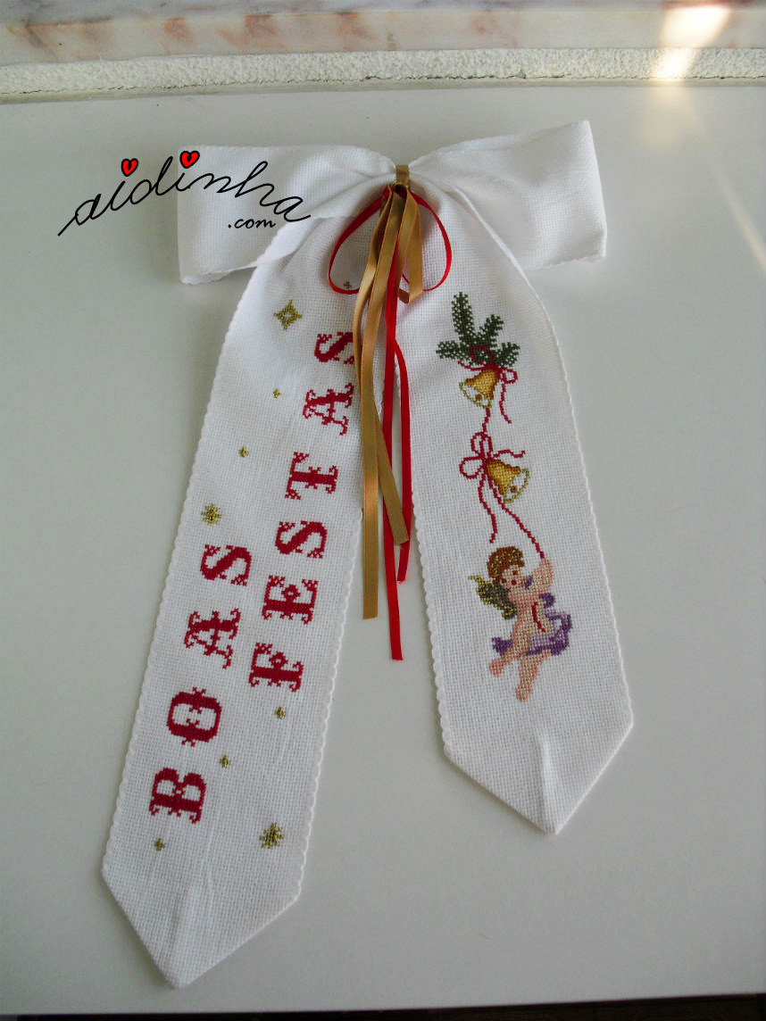Imagem geral do laço de Natal