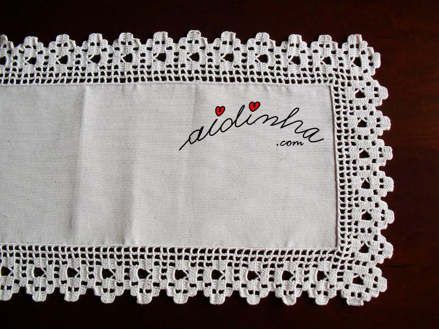 Foto mais abrangente do picô de crochet do naperon