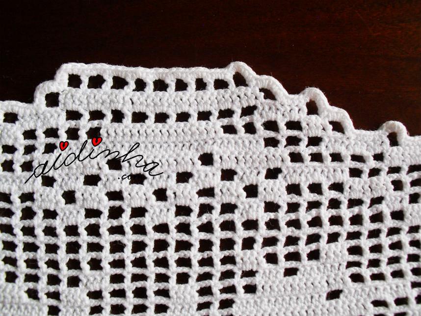 Imagem do caseado de remate dos naperons de crochet