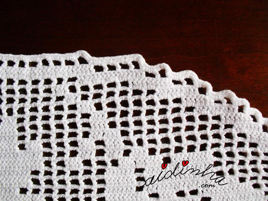 Imagem do caseado dos aumentos e diminuições dos naperons de crochet