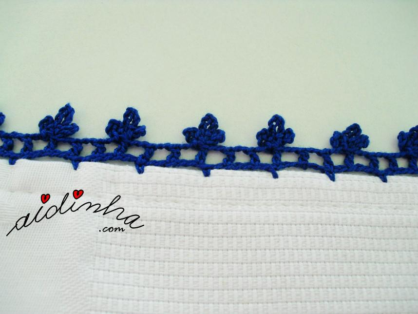 Picô de crochet dos guardanapos da toalha