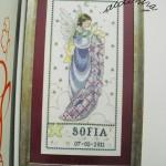 """Quadro em ponto cruz """"Sofia"""""""