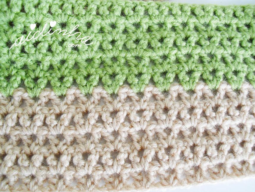 Imagem do ponto de crochet do cachecol infantil com joaninha