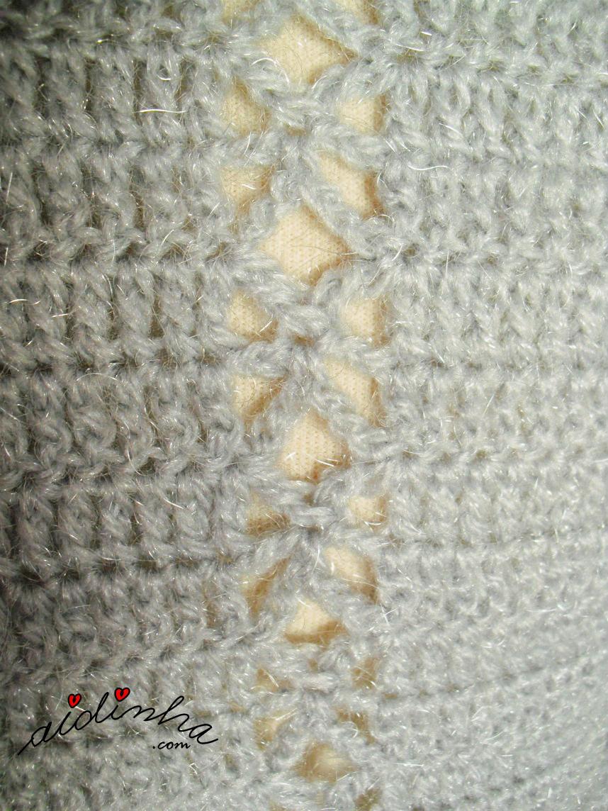 Foto do ponto de crochet utilizado na estola