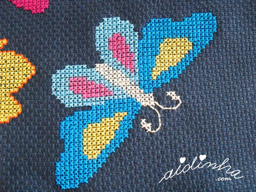 Foto de uma borboleta mais pequena
