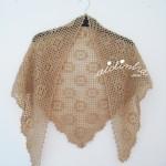 Xaile de lã em crochet