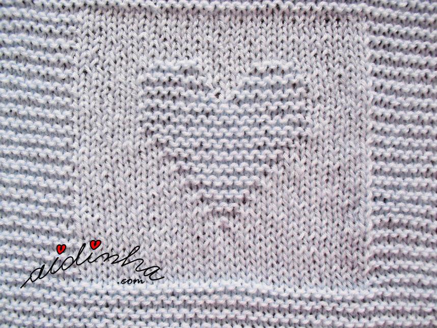 Foto do coração de liga da manta de bébé azul