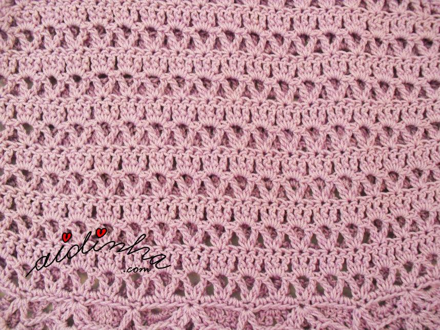 Foto do ponto de crochet do corpo do vestido