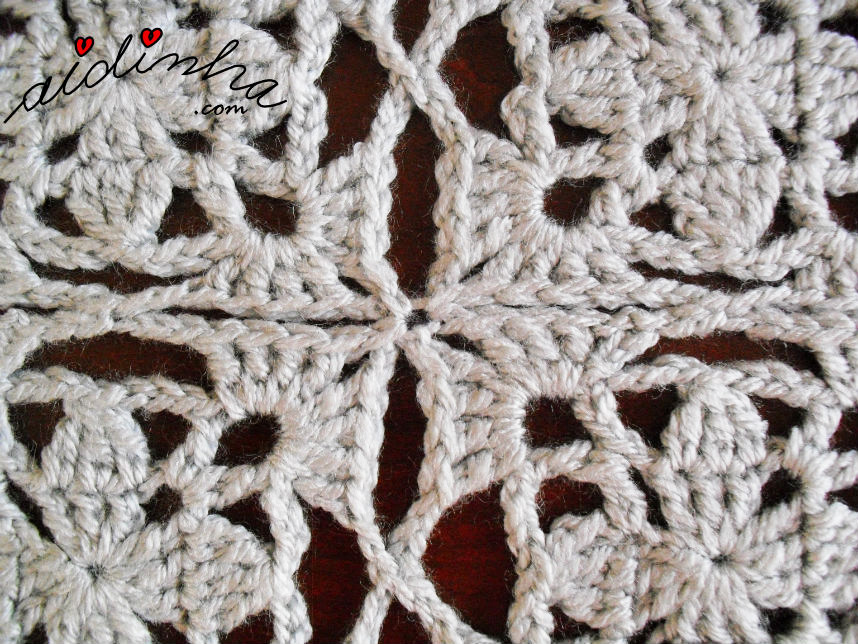 União dos quadrados do bolero de crochet