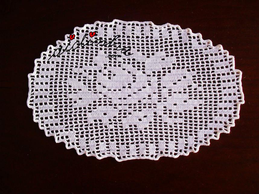 Outra foto do naperon de crochet
