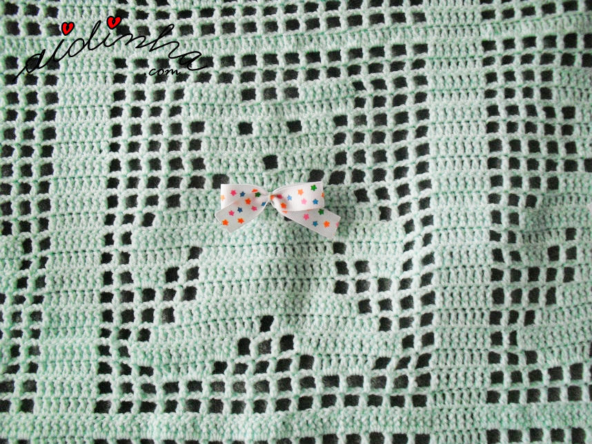 Foto do ursinho da manta de crochet