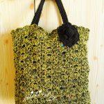 Bolsa em crochet, mesclada e com alças