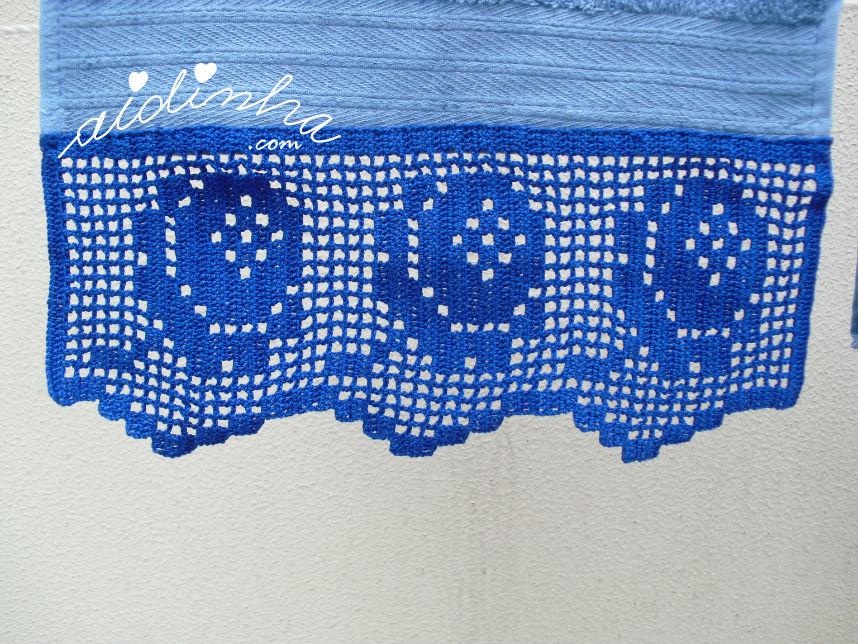 Foto da toalha de bidé azul