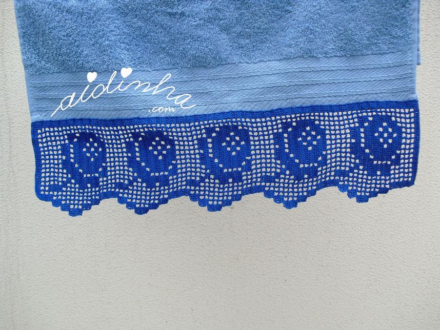 Foto da toalha de rosto azul