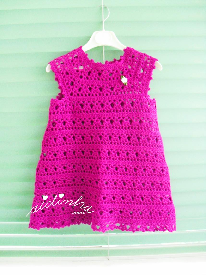 Outra foto do vestido infantil de crochet