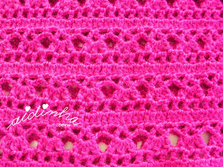 Foto do ponto de crochet do vestido infantil