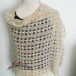Estola de crochet, com fio de algodão creme