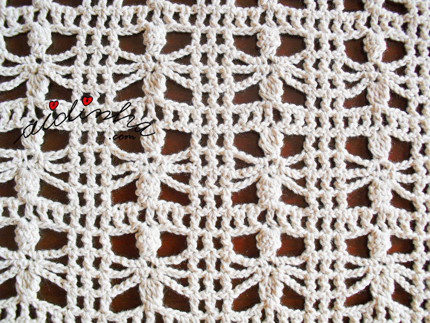 Foto do ponto de crochet desta estola