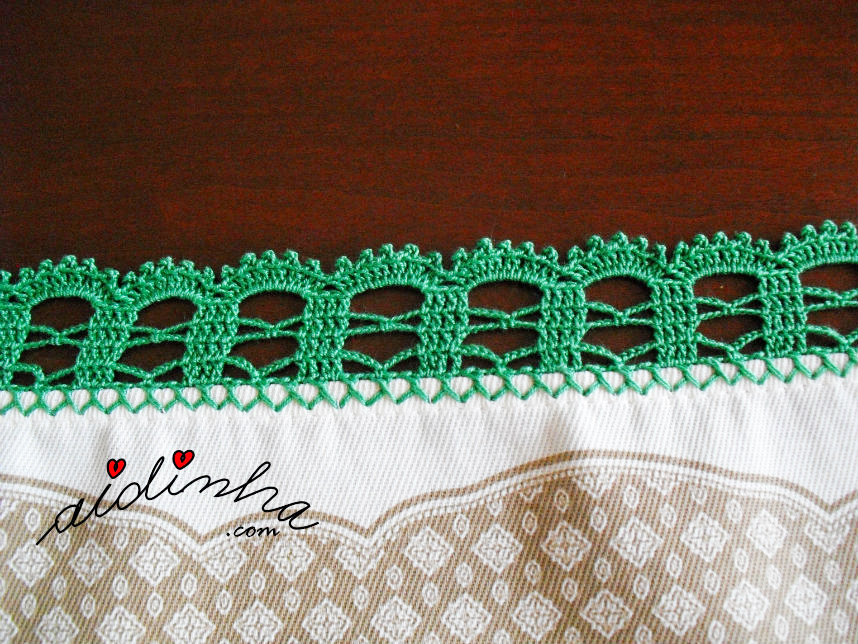 Foto do picô de crochet verde