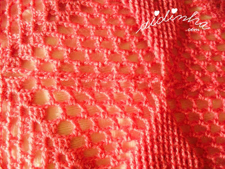 Foto do pegamento de cada quadrado de crochet
