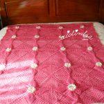 Manta/colcha de crochet, para caminha de bebé