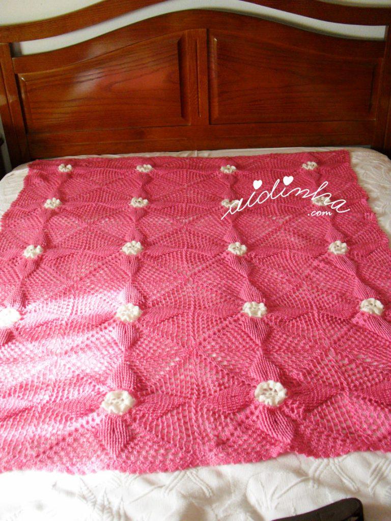 Manta colcha de crochet para cama de bebé