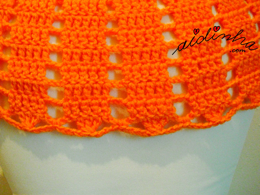 Vista geral do ponto de crochet