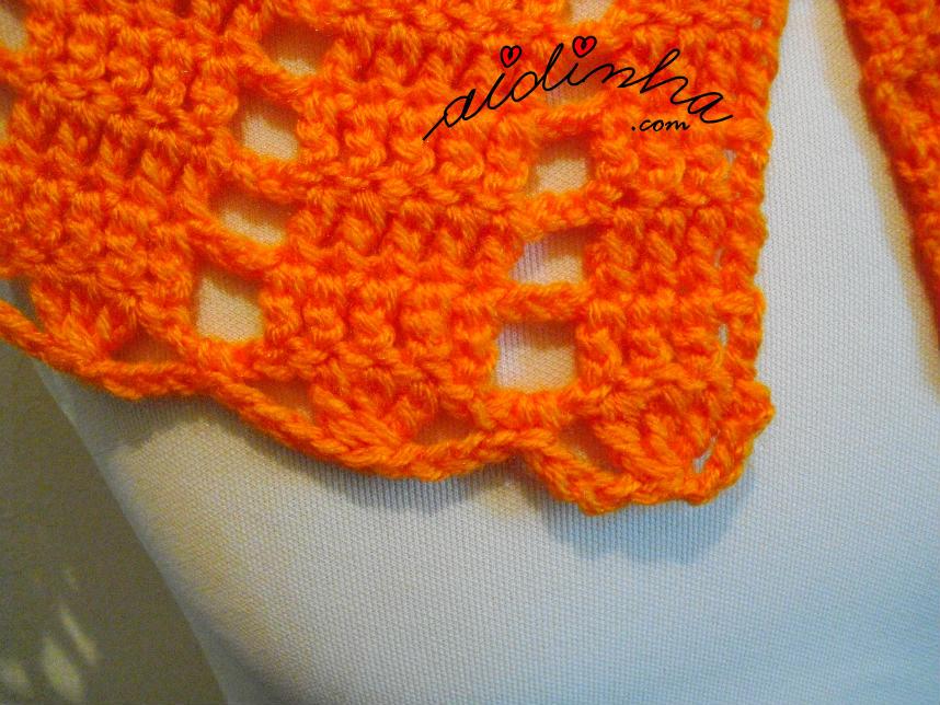 Foto da última carreira de crochet