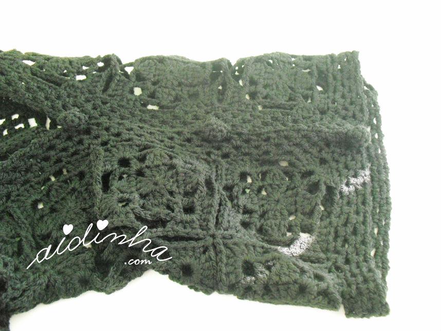 Outra foto da manga do bolero de crochet