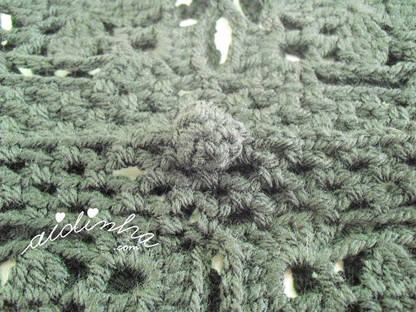 Foto de um dos botões de crochet