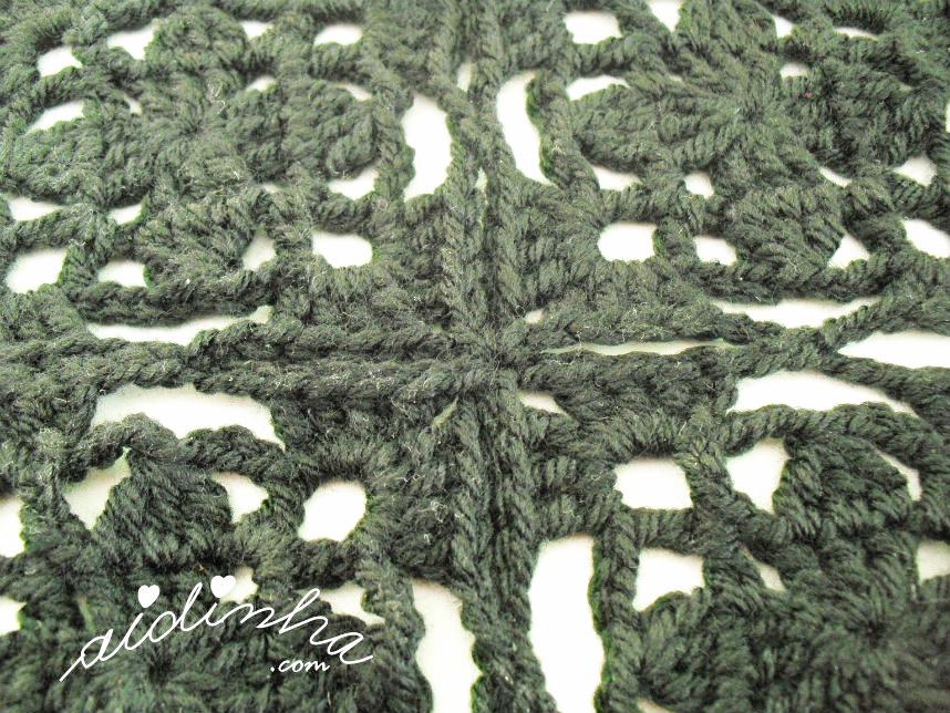 Junção dos quadrados de crochet