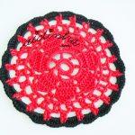 Conjunto de porta-copos coloridos, em crochet